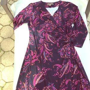 Tommy Bahama Faux Wrap Paisley Dress